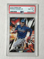 RONALD ACUNA JR 2018 Topps Fire SP RC #109! PSA NM-MT 8! BRAVES! CHECK MY ITEMS!