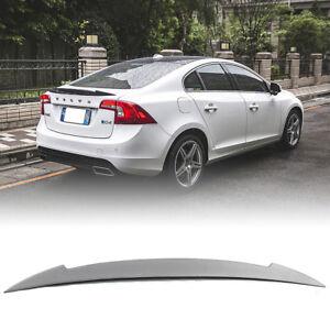 Unpainted S60 V Rear Trunk Spoiler Wing Fit For VOLVO Sedan 4DR T4 T5 T6 2018