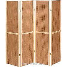 "Folding Pegboard Display Craft Display 4 Panel 5' Folds Flat 60"" H Peg Board"