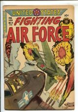 U.S. Fighting Air Force #21 1956-Superior-Korean War-Fight the commies-VG-