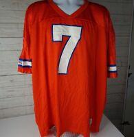 Vintage John Elway 7 Denver Broncos Champion Orange Crush Jersey NFL 52 XXL