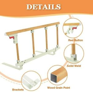 Boxcumo Bed Rails for Elderly Adults Foldable Hospital Bed Rail Guard Assist