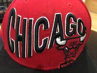 Chicago Bulls New Era Hardwood Classics Red SnapBack Hat Windy City
