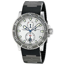 Ulysse Nardin Maxi Marine Diver Automatic Silver Dotted Dial Mens Watch 263-33-3