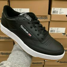 REEBOK CLUB C 85 AR0458 BLACK/WHITE/GUM SNEAKER MEN SHOES SIZE