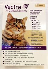 Vectra For Small Cats 2-9 lb 6 Doses Flea Tick Control - EPA/USA Approved