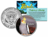 COCKATIEL BIRD JFK Kennedy Half Dollar US Colorized Coin