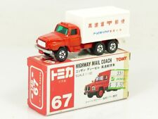 Tomy Tomica 67 Nissan Diesel Mail Coach CANDY RED made in Japan BOXED V/RARE!