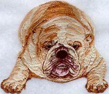 Embroidered Short-Sleeved T-Shirt - English Bulldog I1066 Sizes S - XXL