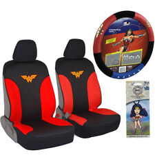 New Wonder Woman Car Truck Front Seat Covers Steering Wheel Cover Air Freshener