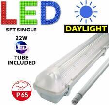 5FT SINGLE LED Striscia di Luce Fluorescente resistente alle intemperie RACCORDO Inc LED TUBE 6000K