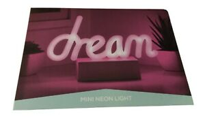 Mini LED Dream Novelty Table Lamp Pink Batteries Included!! Free Shipping!!NIB