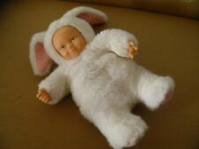 ANNE GEDDES WHITE RABBIT DOLL WITH PLASTIC HANDS AND FACE SOFT TOY