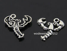 10pc Retro Tibetan Silver lobster Charm Beads Pendant accessories wholesalePL770