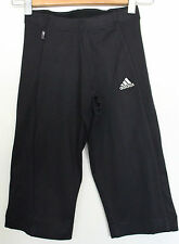 ADIDAS ~ Black Knee Length Slim Fit Fitness Active Wear Sports Pants ~ S 10
