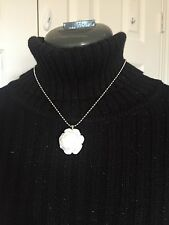 Rose Pendant  Handmade Necklace /white