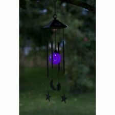 Sun Moon Star Wind Chime Solar Powered Colour Changing at Night Smart Garden