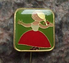 Antique Rumcajs Wife Manka Vecernicek Czech Classic Childrens Cartoon Pin Badge