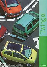 Renault Twingo Prospekt 9 98 brochure 1998 Auto PKWs Autoprospekt Frankreich