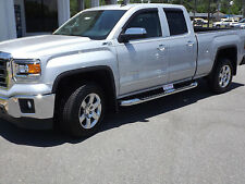 "2014-2017 Silverado & Sierra Double Cab GM OEM 4"" Round Chrome Assist Steps NEW"