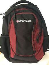 Wenger Black and Maroon Three Pocket Backpack NWOT