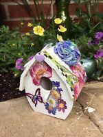 Birdhouse Mackenzie Childs Napkins Decoupaged Handmade Shabby Chic Flower