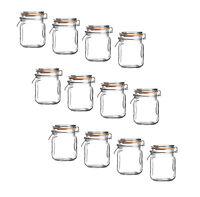 12x Mini Clip Top Airtight Seal Food Spice Storage Preserve Glass Jars 70ml