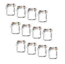 12x Paquet de classique cuisine Mini hermétique rangement Récipient pots verre