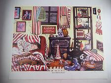 Alabama Crimson Tide SWEET ALABAMA DREAMS Signed Gale Osborne Lithograph Print