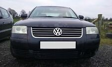 VW PASSAT 03 1.6 PETROL ENGINE O/S RIGHT BREAKING FOR PARTS N/S LEFT BLACK LC9Z