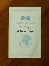 P & O Ports of Call: The Cape of Good Hope - 1956 leaflet & map