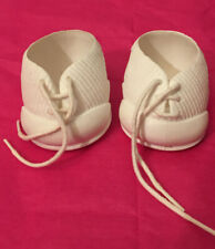 Ideal Nursery White Doll Shoes with Strings