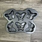 Nordic Ware Butterfly Cakelet 6 Cake Pan Heavy Cast Aluminum USA 3 Cup