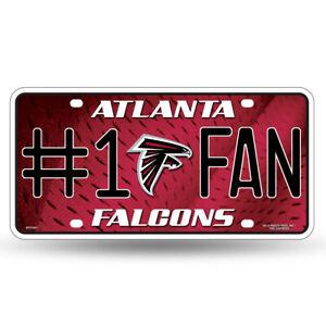 Atlanta Falcons #1 Fan Metal License Plate Tag Wall Sign Cave FAST USA SHIP