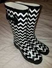 Flat Wellies Mid Calf Rubber Rain & Snow Boots Size Medium 7 /8