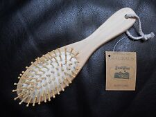 """Earthline"" Professional Natural Wood Wooden Pin Hair Brush Comb Massage Care"