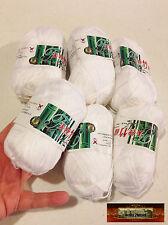 M01263x6 MOREZMORE 300 g WHITE #2 Soft Viscose Cotton Crochet Knitting Yarn A60