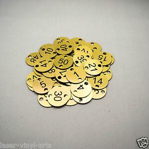 50x3cm 2 holes Engraved Number Discs, Table, Tags, Locker, Pub, Restaurant