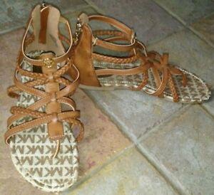 Michael Kors Women's Sandals Tatia 3 Cognac sz 5 NEW