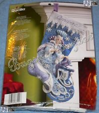 Bucilla SNOW QUEEN Stocking Felt Applique Christmas Kit – FROZEN - 86109