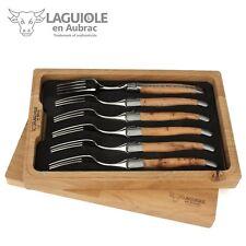 Laguiole en Aubrac - Sechs Gabeln Wacholder passend zu Steakmessern Tafelmessern