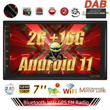 "7"" DAB+ AUTORADIO Android 11 GPS NAVI BLUETOOTH USB FM RDS Doppel 2 DIN 2G+16G"