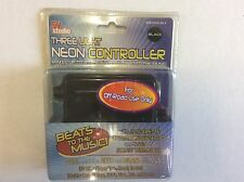(1) COOL BLACK 12V 3-Light Neon Controller - Dual Mode Auto & Beats To The Music