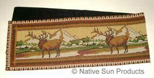 "Elk Country Western Design Woven Table Runner 13x72 "" Kinara #12032"