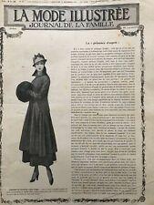 MODE ILLUSTREE SEWING PATTERN Dec 12,1915 - Mourning coat, child dresses