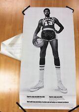 Vintage Wilt Chamberlain Basketball Promotional Afrin Advertising Poster 1968-69