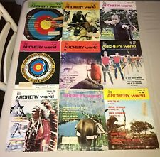 Vintage Archery World magazines bow arrow hunting sport 1968 lot of 9
