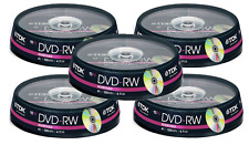 50 x TDK DVD-RW Rewritable Disk DVD Video/Data 4X Speed - 5 x 10 Spindle Pack