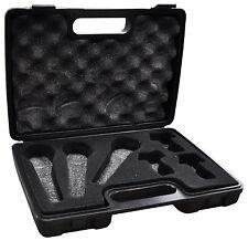 SoundLAB DJ Karaoke Storage Carry Case -Holds 3 Microphones and mic 3 Holders
