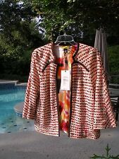 ST. JOHN SZ S NWT NEW WITH TAGS $695 LADIES SILK LINED OPEN FRONT JACKET